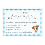 "Boy Puppy Shower Invitations 5"" X 7"" Invitation Card"