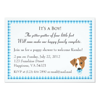 Boy Puppy Shower Invitations