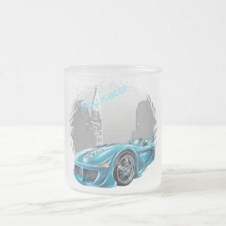 Boy Racer - Frosted Glass Mug