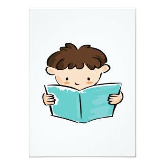 Boy Reading Card