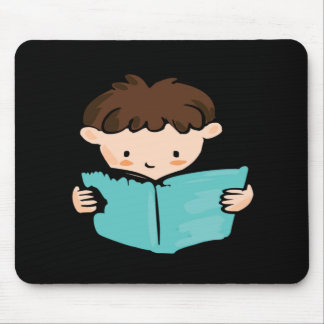 Boy Reading Mouse Pad
