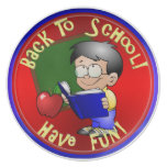 Boy Reading School Book - Back to School Party Plates