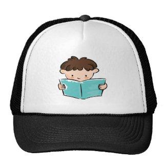 Boy Reading Trucker Hat
