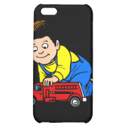 Boy red fire truck iPhone 5C cover