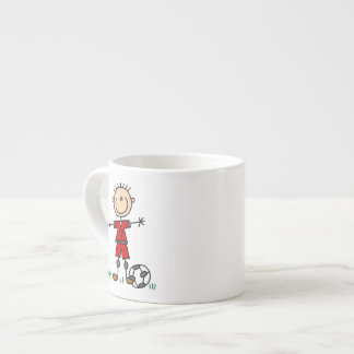 Boy Red Uniform Soccer Player T-shirts and Gifts 6 Oz Ceramic Espresso Cup