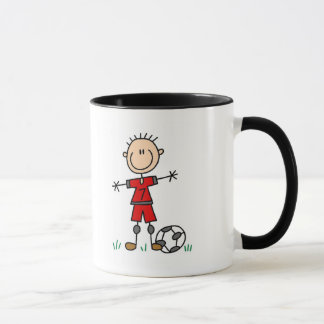Boy Red Uniform Soccer T-shirts and Gifts Mug