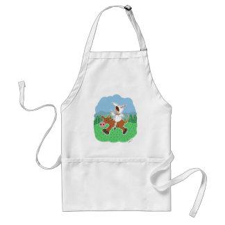 Boy riding a horse adult apron