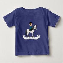 Boy riding a horse cartoon baby T-Shirt