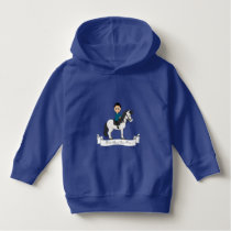 Boy riding a horse cartoon hoodie