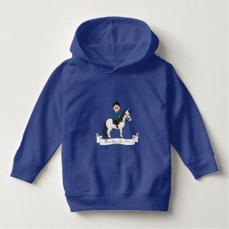 Boy riding a horse cartoon hoodie