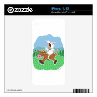 Boy riding a horse skins for the iPhone 4