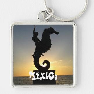 Boy Riding Seahorse; Mexico Keychains