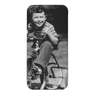 Boy Riding Tricycle iPhone SE/5/5s Cover