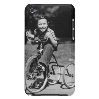Boy Riding Tricycle iPod Case-Mate Cases