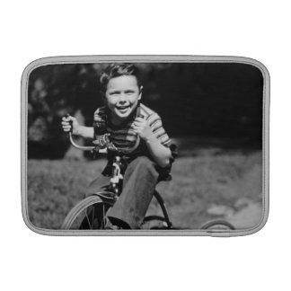 Boy Riding Tricycle MacBook Air Sleeve