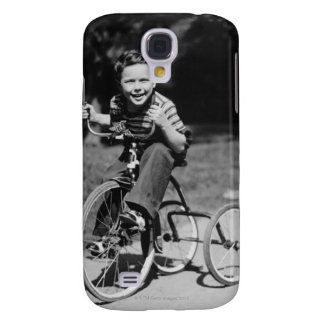 Boy Riding Tricycle Samsung Galaxy S4 Cover