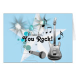 Boy Rock Star Thank You Stationery Note Card