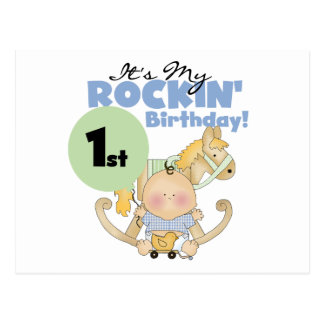 Boy Rockin' 1st Birthday T-shirts and Gifts Post Cards