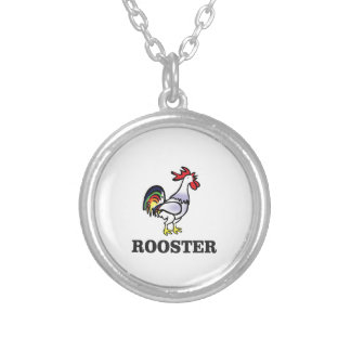 boy rooster yeah silver plated necklace