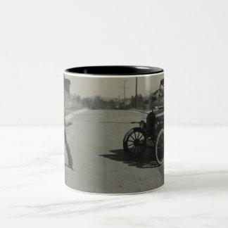 boy roped car mug