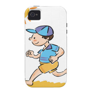 Boy running while barefoot vibe iPhone 4 cover
