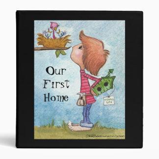 Boy's Birdhouse Gift-Home Tweet Home 3 Ring Binder