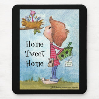 Boy's Birdhouse Gift-Home Tweet Home Mouse Pad