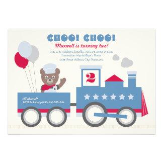 Boy s Birthday Party Invitation Vintage Train