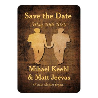 Boy Save the Date Card Gay Wedding