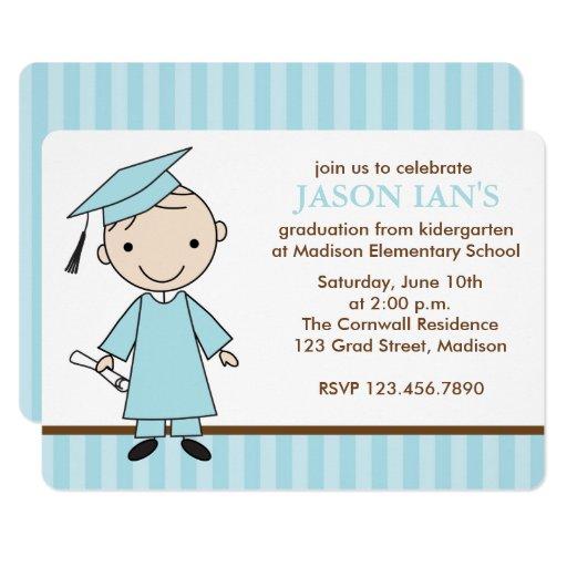 Boy School Graduation Party Card