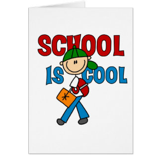 Boy School is Cool Card