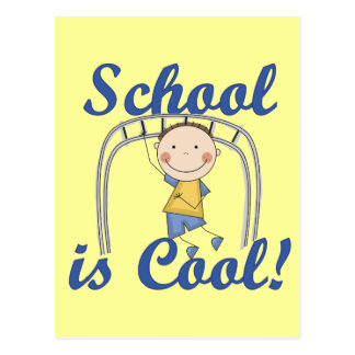 Boy School is Cool T-shirts and Gifts Postcard