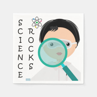 Boy Science Rocks Party Disposable Paper Napkins