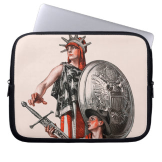 Boy Scout and Liberty Computer Sleeve