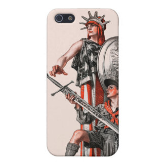 Boy Scout and Liberty Cover For iPhone SE/5/5s