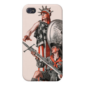 Boy Scout and Liberty iPhone 4/4S Cases