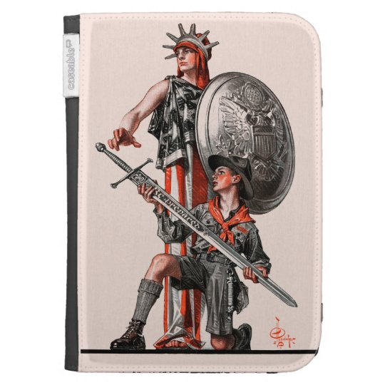 Boy Scout and Liberty Kindle 3G Covers