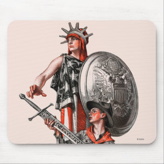 Boy Scout and Liberty Mouse Pad