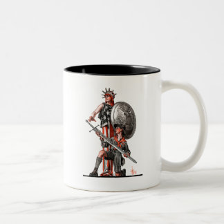 Boy Scout and Liberty Two-Tone Coffee Mug
