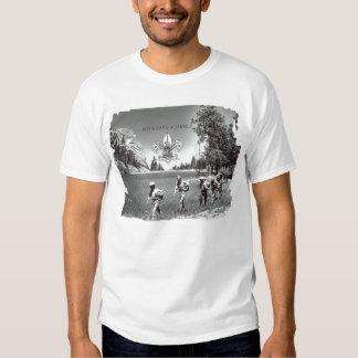 Boy scout de la camiseta del vintage de América Playera