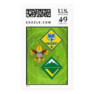 Boy scout del sello del programa de América