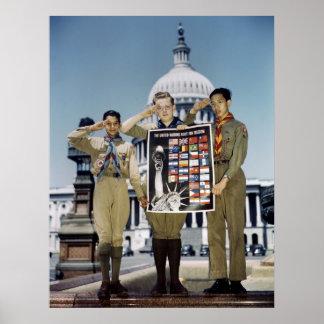 Boy scout en C.C., 1941 Poster
