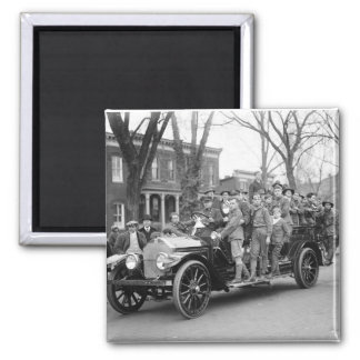 Boy Scout Fire Drill, 1910s 2 Inch Square Magnet