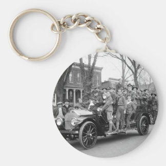 Boy Scout Fire Drill, 1910s Keychain