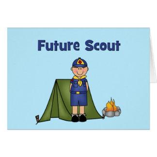 Boy scout futuro tarjeta