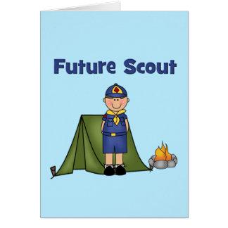Boy scout futuro tarjeta de felicitación