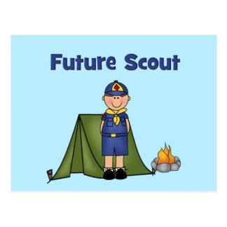 Boy scout futuro tarjeta postal