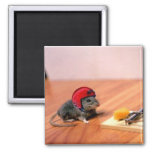 Boy Scout Mouse 2 Inch Square Magnet