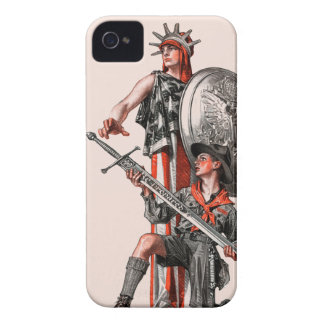 Boy scout y libertad iPhone 4 Case-Mate funda