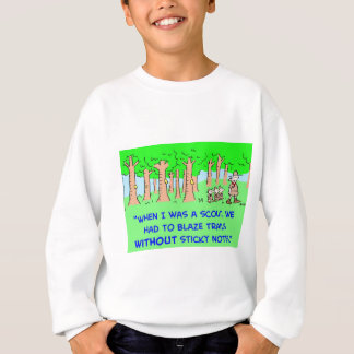 BOY SCOUTS BLAZE TRAIL STICKY NOTES SWEATSHIRT